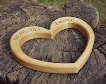 Gravur Herzen aus Holz, benutzerdefinierte Holz Hochzeitsgeschenk ...