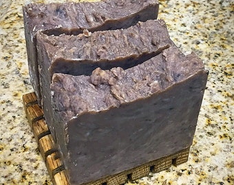 BIRCH TAR NATURAL Facial Body Homemade Soap Bar with Rhassoul Clay, Acne Soap, Handmade soap, Detox Soap, Clay Soap, Unscented soap