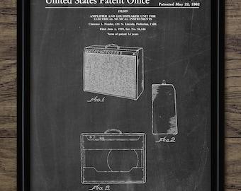 Amplifier Patent Print - 1962 Amplifier Design - Sound Amplifier - Electric Guitar Equipment - Single Print #1926 - INSTANT DOWNLOAD