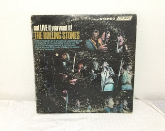 The Rolling Stones Got Live If You Want It! LP vinyl Stereophonic