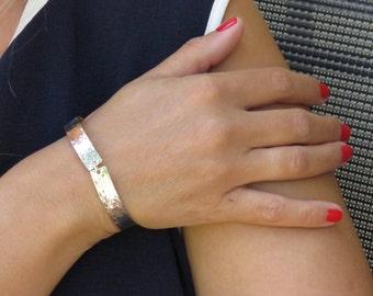 Silver open bangle, Silver bracelet cuff,  Open bangle, Hammered bangle, Elegant bracelet, Silver bracelet, Hammered bracelet