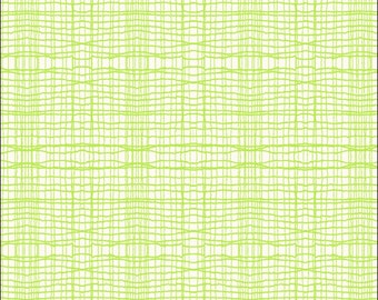 Cotton Fat Quarter Makower Stitch Check Lime Green