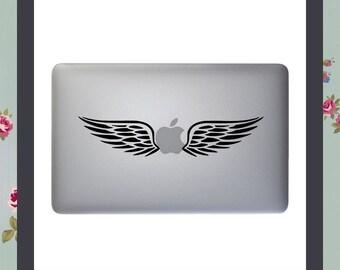 Mac Decal, Macbook Angel Wings, Apple Macbook and other laptop Vinyl stickers, laptop decals
