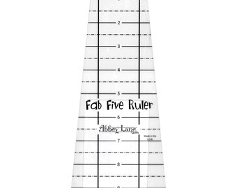 Ruler - Fab Five Ruler by Abbey Lane Quilts (ALQ211) Acrylic Ruler Template Quilting Sewing
