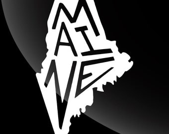 Maine Decal Sticker Single Color