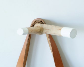 Wall Branch Hook Double (BH2-01) in White.