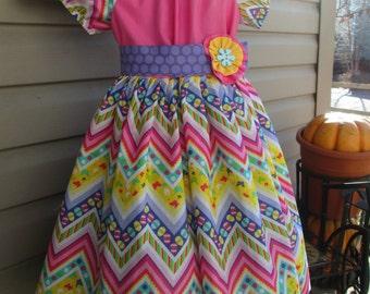 Girls easter dress, childrens clothing, girls dress, girls spring dress, girls clothing,  sizes 2T, 3T, 4T, 5, 6, 7, 8, 10