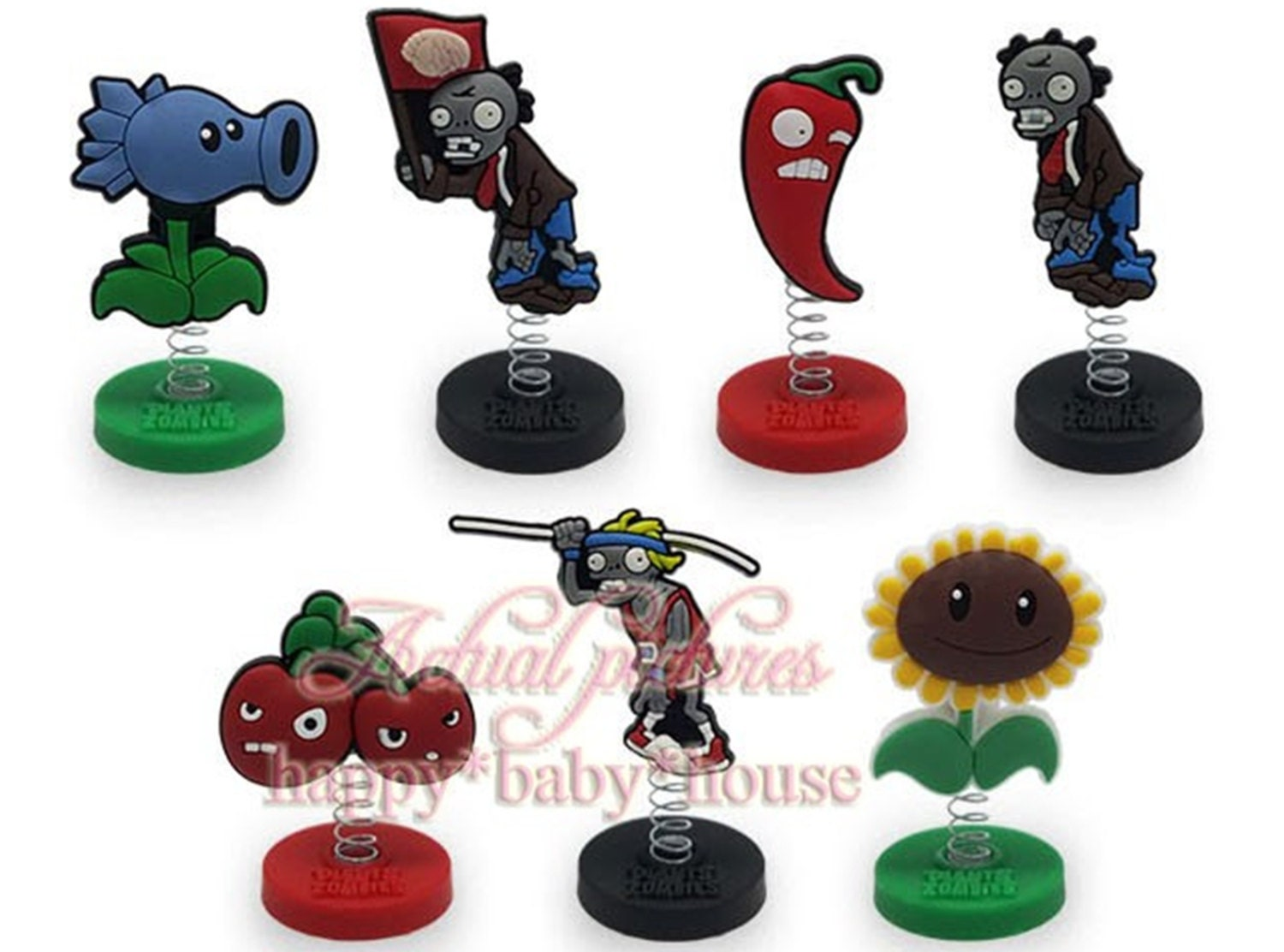 Zombie Wedding Gifts: Plants VS Zombies Birthday Cake Toppers 1/4X