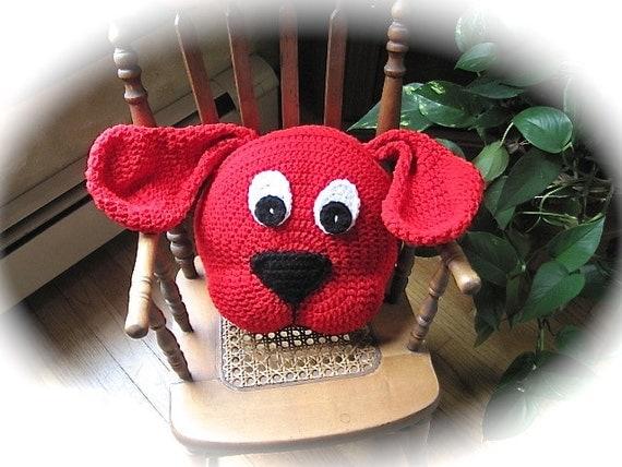 Animal Pillows For Nursery : Crochet Dog PATTERN, Crochet Pillow Pattern, Dog Pillow, animal pillow for nursery decor and ...