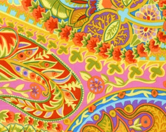 1/2 yard Jungle Paisley Lime Kaffe Fassett  fabric  GP60