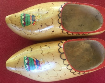 Vintage wood clogs from Holland