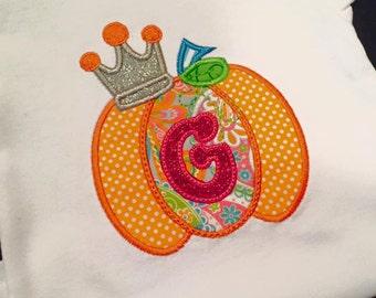 Princess Pumpkin Applique shirt
