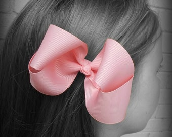 Pink Hair Bow, Pink Boutique Hair Bow, Pink Hairbow, Pink Hair Clip, Boutique Hair Bow, Hairbows, School Hair Bow, Hair Bows for Babies