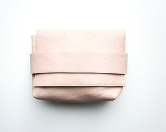 Leather Clutch / Crossbody  pink woman