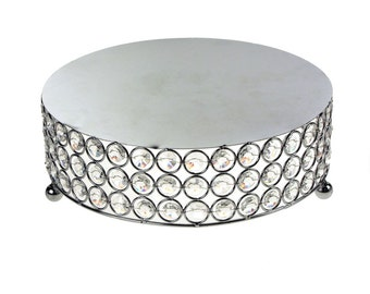 Crystal Metal Cake Stand, 10-inch