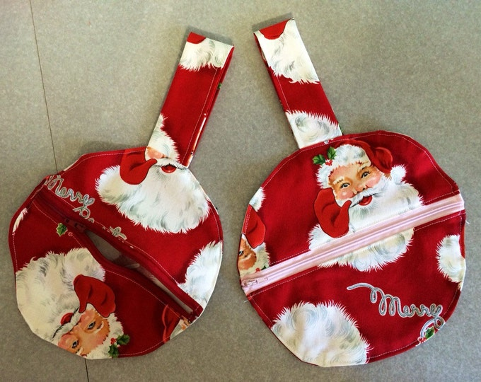 Santa wristlet mini purse 8 inch