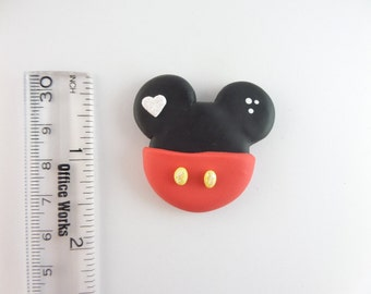 Ears.  Clay Charm Bead, Scrapbooking, Bow Center, Pendant.