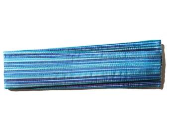 VINTAGE: 70s ZODIAC Silk Obi Belt, Silk Sash, Long Reversible Belt, New Old Stock