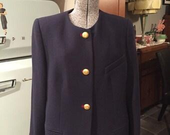 Navy vintage Louis Feraud blazer jacket