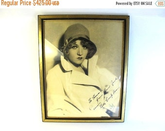 ON SALE Betty Compson Large Autographed Russell Ball Photograph, Valentine