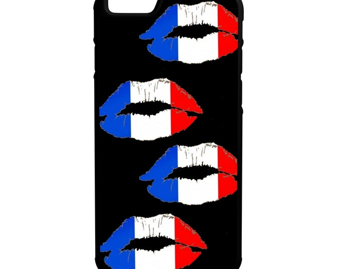 French Flag Lips iPhone Galaxy Note LG HTC Hybrid Rubber Protective Case