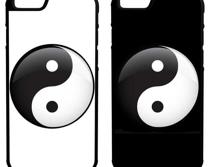 Yin Yang iPhone Galaxy Note LG HTC Hybrid Rubber Protective Case