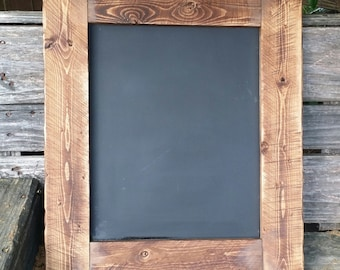 Rustic Chalkboard 21 x 18, Menu board, reclaimed wood chalkboard,Rustic Home Decor,  chalkboard sign, Wedding Chalkboard
