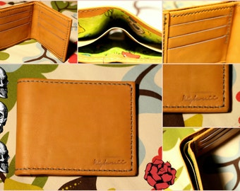 Leather wallet with a funny feature