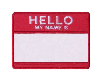 Hello My Name Is Applique Machine Embroidery Design Name Tag