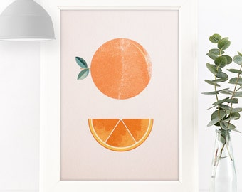 "Orange Giclée Art Print 7 x 5"" / 8 x 10"""