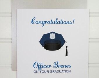 Military Graduation Card, Custom Card, for the Graduate, Army, Navy, Air Force, Marines, Police Academy, Firefighter, Ranger School Congrats