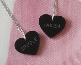 Single Or Taken Necklace Set