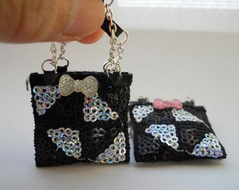 Miniature Sequin Handbags