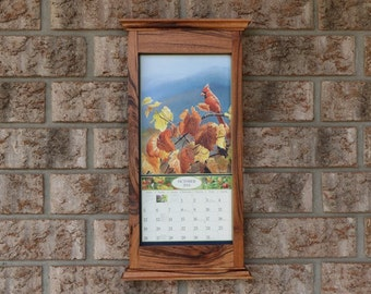 tiger exotic wood calendar frame
