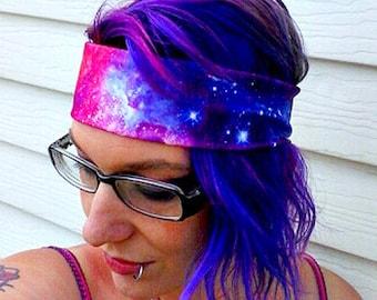 Galaxy Nebula headband Space hair bow geek planet stars Space