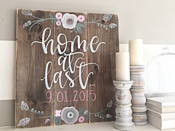 Https Www Etsy Com Listing 263743616 Wood Sign Hand Painted Rustic Decor Home