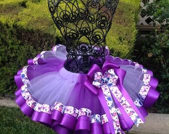 My Little Pony - Twilight Sparkle Ribbon Tutu, Sewn Ribbon Trimmed TuTu, Tutu Skirt, Girl's Tutu, Tutu For Girl's Party/Birthday
