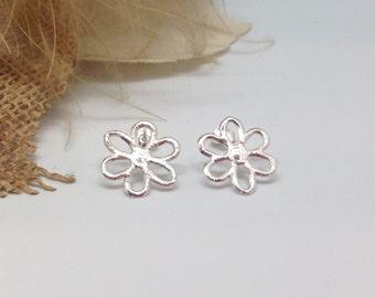 Ear studs 'Flower' Sterling Silver
