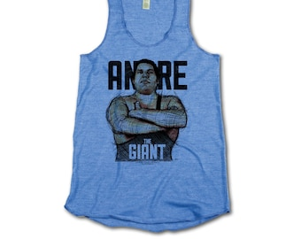Andre Roussimoff Pro Wrestling Officially Licensed Womens Tank Top S-XL Andre the Giant Sketch B