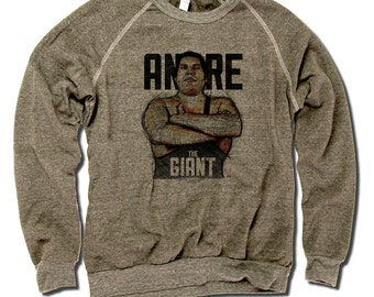 Andre Roussimoff Pro Wrestling Officially Licensed Crew Sweatshirt S-2XL Andre the Giant Sketch B