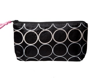 Black and White Zip Pouch