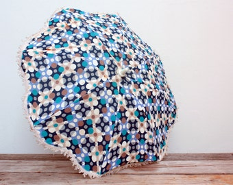 ON SALE - Umbrella fantasy for pram vintage polka dot