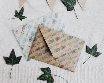 Pack of two envelopes 'Flower pots'