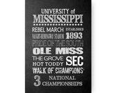 University of Mississippi Ole Miss Chalkboard Poster Digital Download