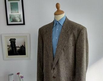 Vintage blazer in gray, brand Loyrana, Size UK 48, made in Spain, 1970's