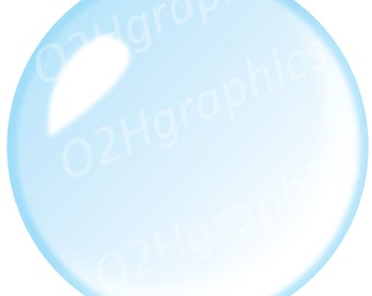 Bubble Clipart, Soap Bubble Clip Art, Vector Clipart, Digital Scrapbooking, Graphic Artwork, PNG & JPEG, Digital Clipart, Commercial Use