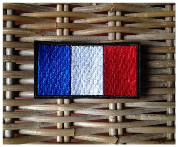 cusson patch coudre ou coller drapeau fran ais 4cm de. Black Bedroom Furniture Sets. Home Design Ideas