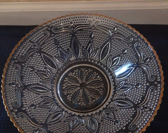 Federal Glass Heritage Bowl Gold Pattern