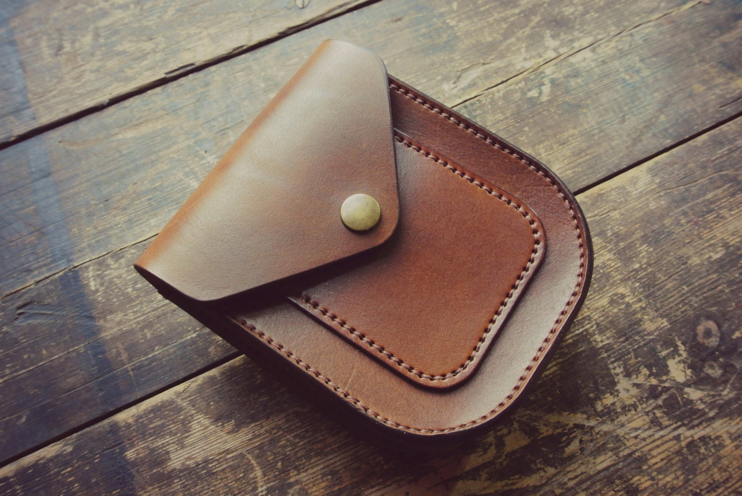 handmade veg tanned leather possibles pouch belt by