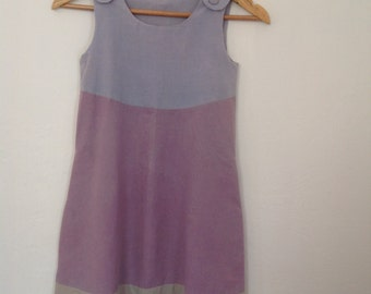 Hand dyed, hand sewn girls dress.